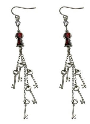 Tom Binns Dangling Alice Keyhole Earrings_large