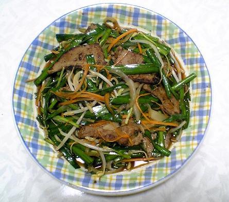 光福亭「レバニラ炒め」