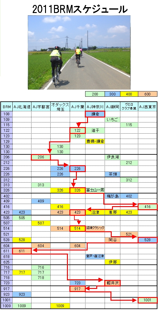 2011年BRMスケジュール