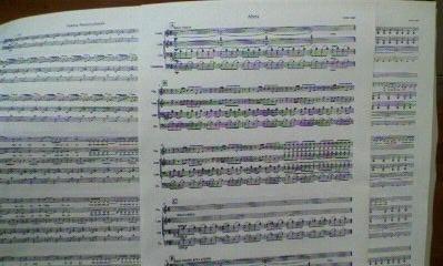 ロシア作曲家譜面