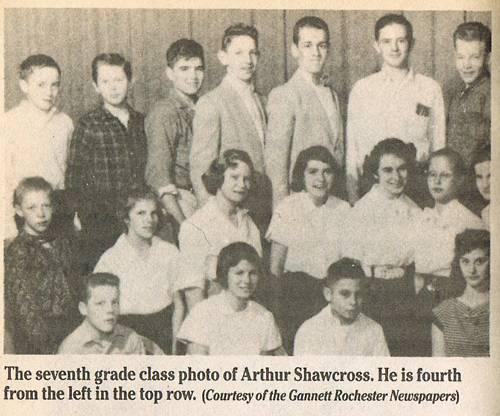 上の右から3番目、高校時代のショークロス
