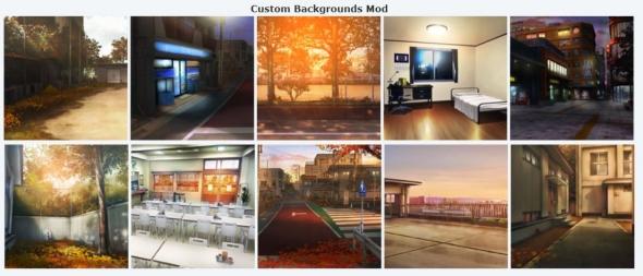ジンコウガクエン2 AA2 Custom Backgrounds v1.00 - Autumn (秋背景) 参考画像