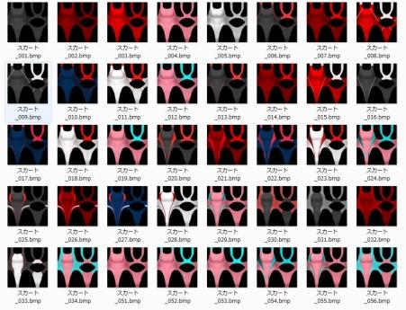 ジンコウガクエン2 競泳水着追加 同梱テクスチャ 参考画像