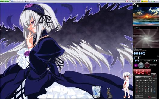出遅れたました、画像は「銀狐巫女」です
