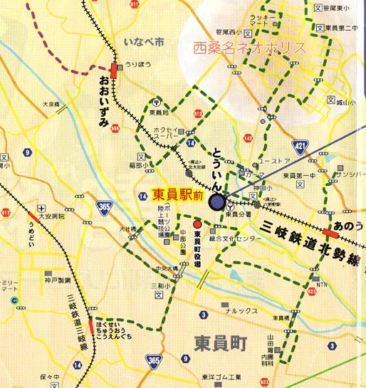 東員町地図
