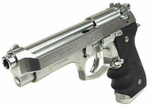 ベレッタ M92F ミリタリークロームステンレス ガスブローバック マルイ