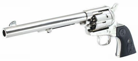 タナカ モデルガン コルトSAA 7-1/2インチ キャバルリー ニッケルモデル
