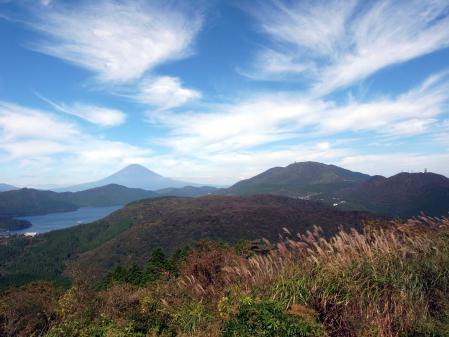 大観山より芦ノ湖と箱根の山々・富士山