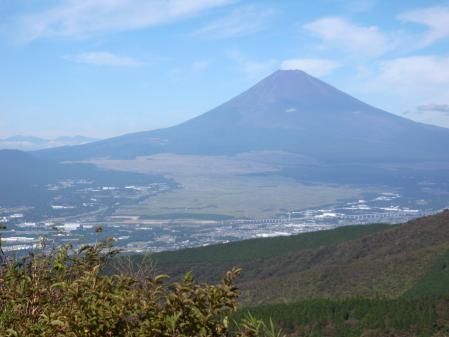 芦ノ湖スカイライン 杓子峠からの富士山