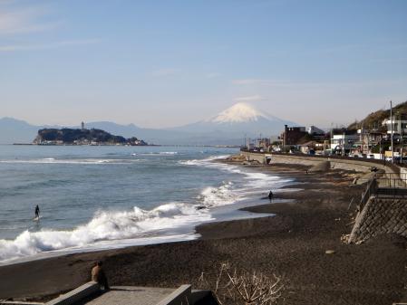 稲村ヶ崎公園から七里ヶ浜と江ノ島