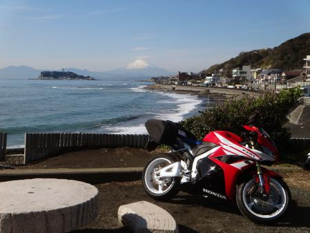CBRと江ノ島と富士山と