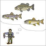 楽しい開発屋のブログ-池の釣り(絵)