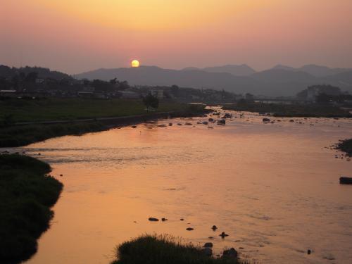 三隈川の夕陽