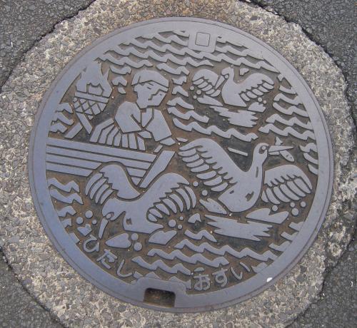 日田のマンホール