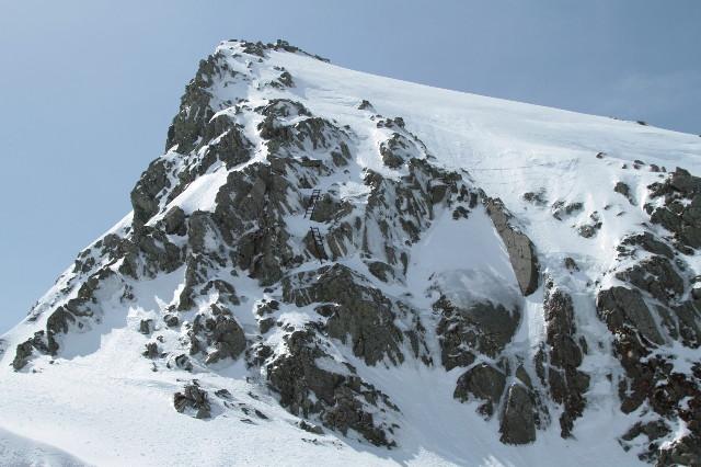 奥穂の雪壁