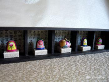 韓紙工芸-おちょこ入れで飾り棚
