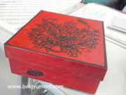 近鉄文化サロン 阿倍野教室 2011年秋 Iさんの菓子箱リメイク