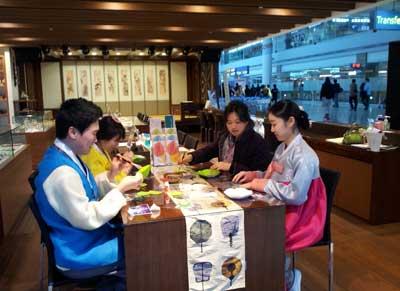 丹青模様の幸福小皿作り無料体験@仁川空港 伝統文化体験館2013年2月