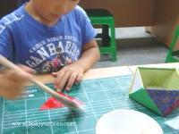 全州で韓紙工芸体験 9