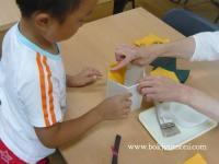 全州で韓紙工芸体験 15
