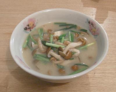 きのこたっぷりお味噌汁 2010.3.2