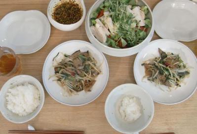 野菜たっぷり、たくさん食べました!棒棒鶏