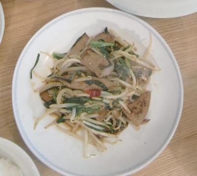 野菜たっぷり、たくさん食べました!レバニラ