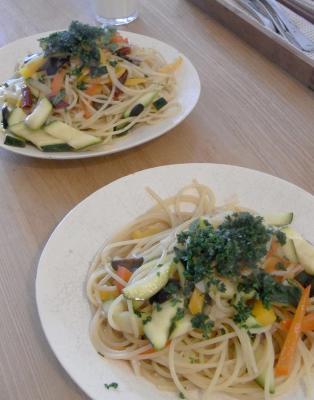 夏野菜のパスタ 2010.5.20
