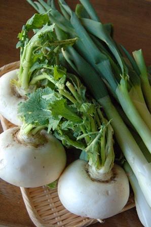 実家の冬野菜