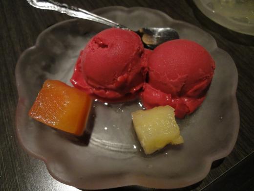 焼肉苑 創 カシスアイス