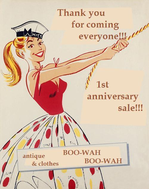 1st anniversary sale 広告1