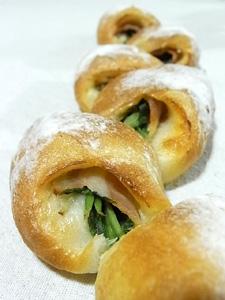壬生菜と柚子胡椒のエピ