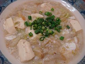 豆腐と白菜帆立庵