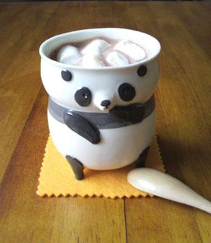 パンダの湯飲み
