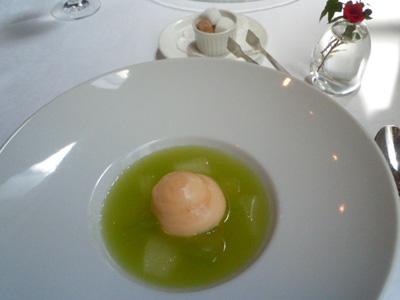 メロンスープ&シャーベット