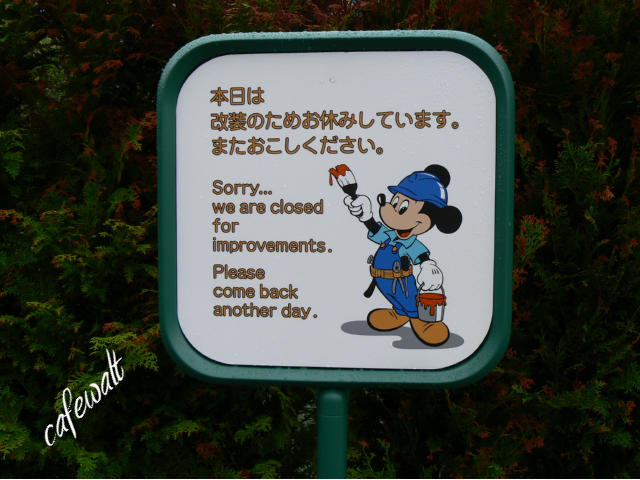 TDL Sorry,Please come back another day, Mickey