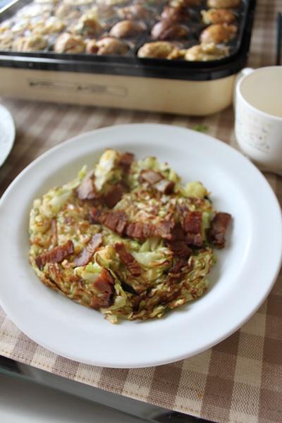 たこ焼&ベーコンキャベツ焼