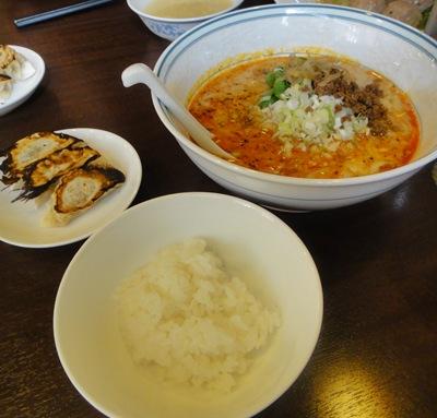 隆盛 坦々麺セット