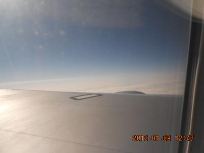 鳥取 上空 雲海