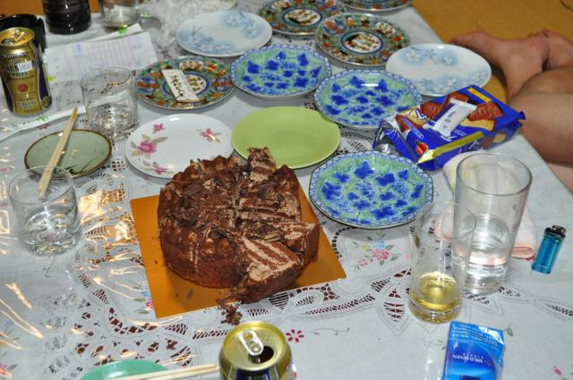 ケーキカット済