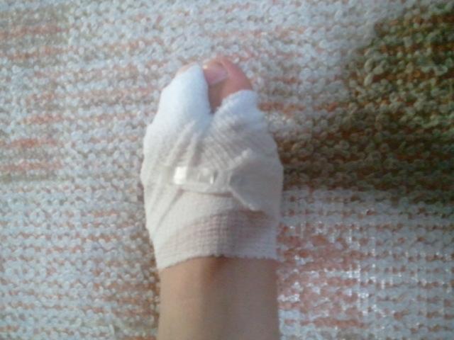 怪我しました包帯