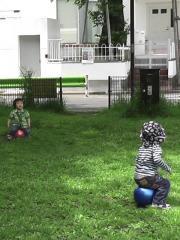 Ryushinとボール遊び2