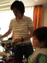 ホットケーキを焼くnobu