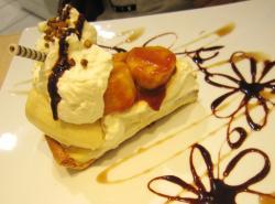 キャラメルバナナのケーキ10.08.31