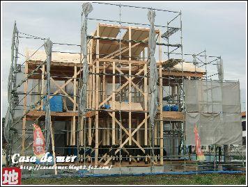 屋根の構造用合板取り付け