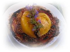 20080605-110 Bourdaisiere 夕食 トマトのフルコース00170017-1