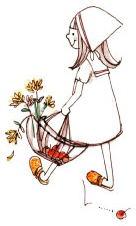 可愛い~散歩中の女の子