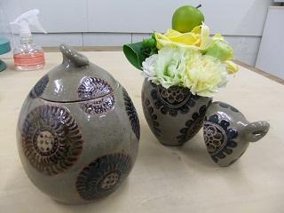 蝋器「蓋物花瓶」
