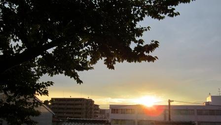 8月18日夕焼け
