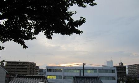 夕焼けの後の空